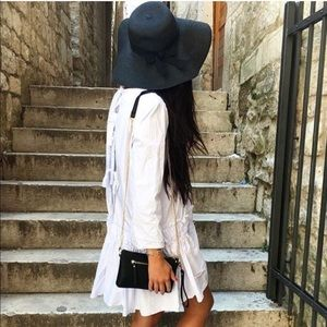 English Factory | White Dropwaist Poplin Dress | M